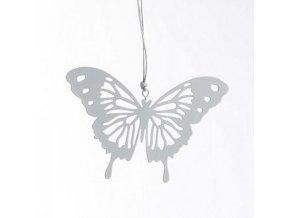 Závěsný motýlek filla šedý 10x7cm