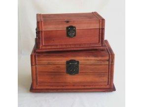 Dřevěné truhla set 2ks