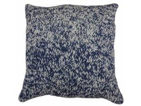 Polštář Double Knit tmavě modrý 45x45cm