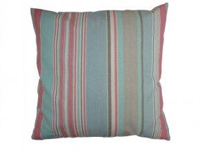 Polštář New Classic Stripe růžovomodrý 45x45cm