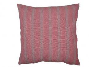 Polštář Linen Stripe růžový 45x45cm