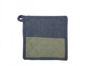 Textilní podložka Shanti Half Half námořnická modř