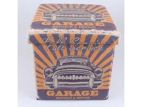 Skládací taburet Full service garage 32×32×32cm