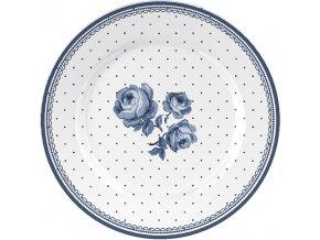 Dezertní talíř | Floral | Vintage Indigo | 19x19cm