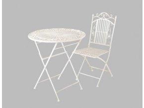 Židle Rom creme kov 96x39x48cm Set 2ks