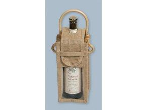 Jutová taška na víno