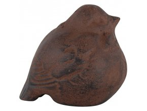 Dekorace ptáček litina 8,8cm