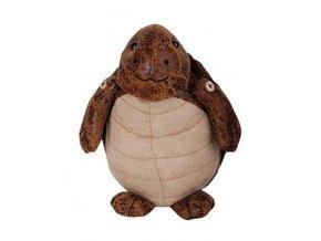 Zarážka na dveře kožená želva 18,2x15x18,2cm