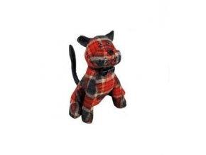 Zarážka na dveře textilní kočka 19x18x18cm