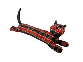 Zarážka na dveře textilní kočka 82x14,2x21,2cm