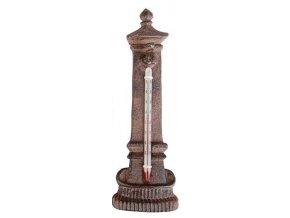 Venkovní teploměr sloupek litina 16,9cm