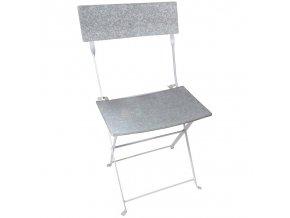 Zahradní židle skládací zinek 43x47x82,5cm