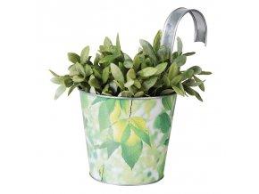 Květináč plechový Listy závěsný 16,3x26,5x26cm