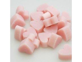 Mýdlo z ovčího mléka růžové ve tvaru srdíčka set 20ks