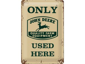 Plechová cedule John Deere used here
