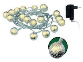 LED osvětlení kouličky kovový efekt řetěz 3m II