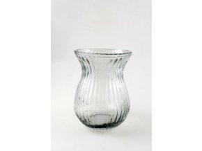 Skleněný svícen -váza  14x18,8cm