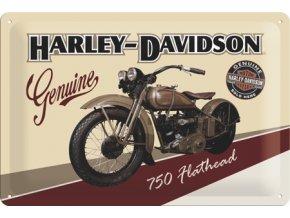 Plechová cedule Harley Davidson 750 Hathead