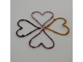 Srdce z flitru fialové 8cm