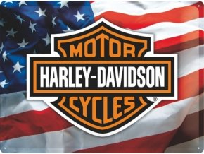 Plechová cedule Harley Davidson Moto Cycles 30x40cm