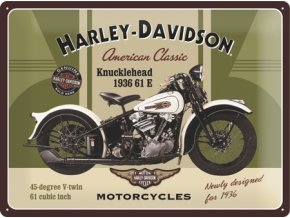Plechová cedule Harley Davidson Knucklehead