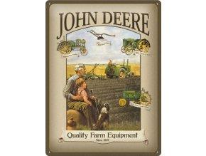 Plechová cedule John Deere Quality Farm Equipment