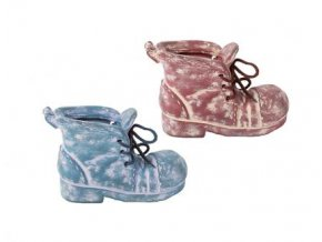 Obal na kytky bota keramika 18x14x11,5cm