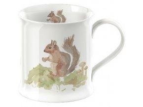 Porcelánový hrnek s veverkou