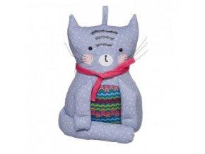 Textilní zarážka ke dveřím ve tvaru kočky