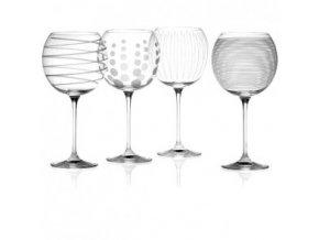 Křišťálové skleničky na víno | Baloon | Mikasa | sada 4ks