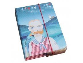 Box na sešity námořník 23x17x4cm