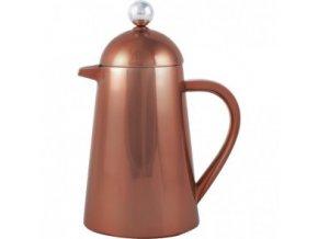 Měděná konev s filtrem na kávu