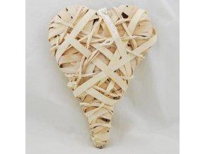 Srdce proutěné | závěsné | 20x30x4cm