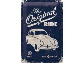 Plechová cedule Volkswagen The Original Ride Dark 20x30cm