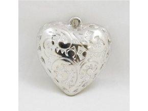 Srdíčko kovové na pověšení 4,7x5x1,2cm