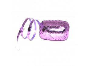 Stuha vázací metalická světle fialová 20m
