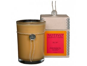 Vonná svíčka PERSIMMON POPPY | 8x8x11cm | 193g | 60h