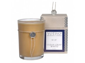 Vonná svíčka CLEAN CRISP WHITE | 8x8x11cm | 193g | 60h