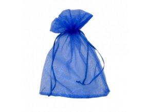 Sáček dárkový organza modrý 15x20cm