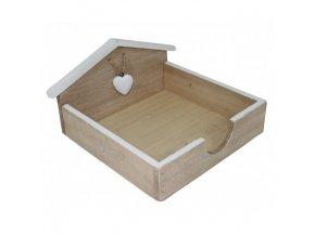 Zásobník na ubrousky přírodní dřevo 22,5x20x11,5cm