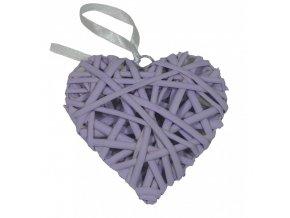 Srdce ratan fialové malé 10cm