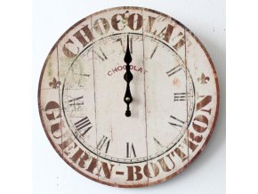 HODINY Nástěnné hodiny 34cm Chocolate