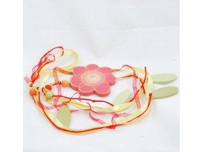 Velikonoční girlanda květina 110cm červená