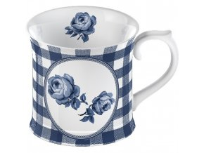 Porcelánový hrnek Gingham Floral 9x13x10cm
