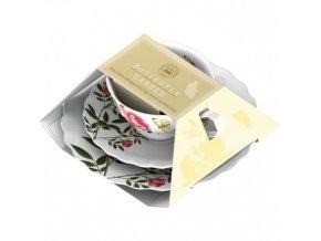 Šálek s podšálkem a talířem Yellow Butterfly porcelán