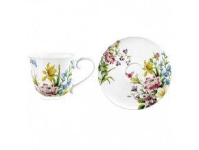 Šálek s podšálkem English Garden porcelán
