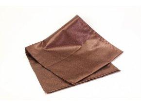 Běhoun hnědý polyester 40x180cm