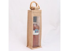 Taška na 1 láhev | jutová | 10×10×33cm