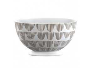 Porcelánová miska Taupe Bunting 14x14x9,5cm