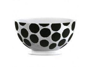 Porcelánová miska Black Spot 14x14x9,5cm